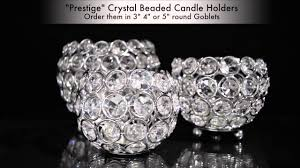 Decorative Candle Holders Prestige Beaded Crystals Candle Holders Shopwildthings Youtube