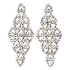 out of stock crystal chandelier earrings