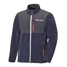Men S Full Zip Mid Layer Jacket With Polaris Logo