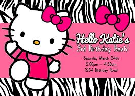 Printable Hello Kitty Invitations Under Fontanacountryinn Com