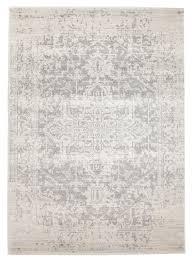 bone white silver art moderne cezanne rug