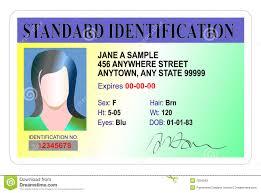 Illustration Card Of Photo - Stock 7824583 Identification Standard Image