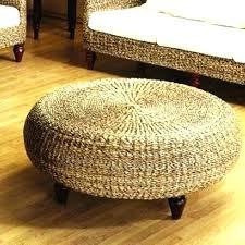 rattan ottoman storage outdoor wicker coffee table indoor trunk round