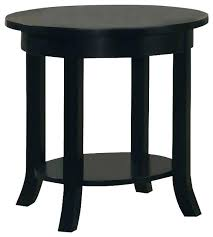 end tables accent end table wood black round flare square legs shelf sofa side transitional