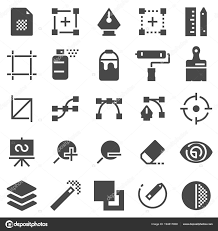 Graphic Design Software Icons Vector Graphic Design Creative Package Stationary