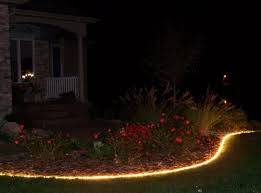 garden yard with rope lighting ways to installing rope lighting