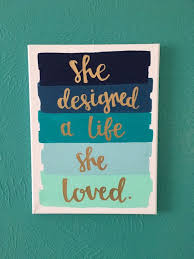 canvas e 9x12 she designed a life she loved by amourdeart