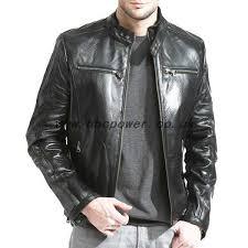 uk men s outerwear men s black lambskin leather cafe racer jacket black hj87933216