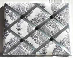 Damask Memo Board Black Memory Board French Memo Board Fabric Ribbon Memo 85