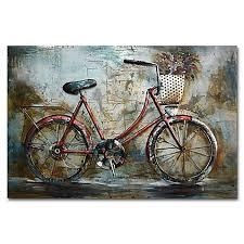 benjamin parker red bike metal wall art on red bicycle metal wall art with benjamin parker red bike metal wall art bed bath beyond