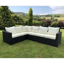 rattan outdoor corner sofa dining set