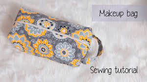 quilted makeup travel bag sewing tutorial