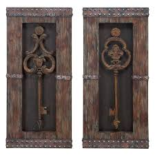 aspire home accents antique key wood wall decor set of 2 14w x 30h in ea hayneedle on antique bronze metal wall art with aspire home accents antique key wood wall decor set of 2 14w x