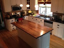 Walnut Kitchen Hand Crafted Solid Walnut Kitchen Island Top By Custom Furnishings