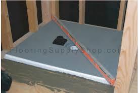 ready to tile shower pan system floor kit custom size