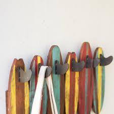 Mini Coat Rack Mini Surfboard Wall Coat Rack Woodwaves 19