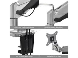 Ez Fit Trigger Shoe Chart Siig Ce Mt2e12 S1 Desk Mount For 2 Lcd Displays Aluminum Silver Screen Size 13 Inch 32 Inch