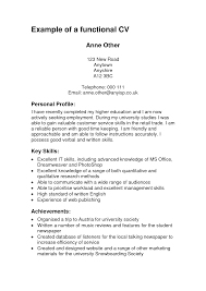Example Of Functional Resume Berathen Com