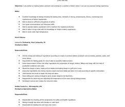 baker cv baker cv examples cute sample baker resume free resume template
