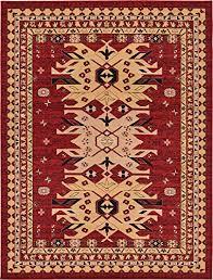 classic traditional geometric persian design area rugs red 8 11 x 12 qashqai heriz rug