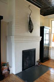 White Painted Brick Fireplace Images Surround Washing Wall. Painted Brick  Fireplace Surround Ideas White Wall. White Painted Brick Fireplace With  Rustic ...