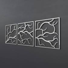 on metal wall art trees and branches with tree branches metal wall art sculpture 3 piece wall art tree