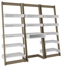 3 piece carpina home floating ladder shelves and desk set contemporary desks and