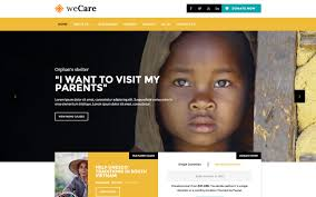 How To Design A Charity Website Wecare Charity Template