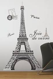 image is loading eiffel tower giant 56 034 removable wall decals  on removable wall decor stickers with eiffel tower giant 56 removable wall decals mural paris room decor