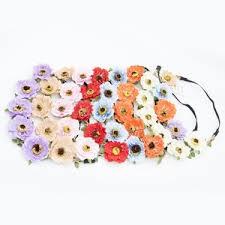 <b>Artificial Flower Headband</b>
