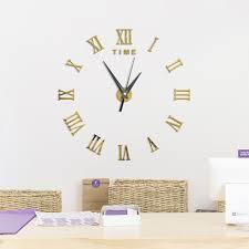 large frameless mirror. Large 3D DIY Wall Clock Roman Numerals Frameless Mirror Surface Sticker Home Dcor For Li H