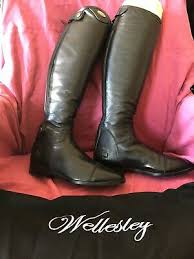 Nwt Tuffrider Baroque All Leather Black Ladies Field Boot