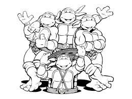 Ninja Turtles T Shirt Party Themes Turtle Coloring Pages Ninja