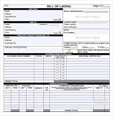 bill of lading printable form standard bill of lading form pdf ideal vistalist co