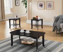 furniture espresso end table lovely 3 piece espresso wood contemporary occasional cocktail coffee 2