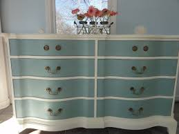 chalk paint furniture ideasCute Chalk Paint Light Blue And White Double Dresser Furniture