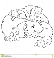 Coloring Pages Wild Animals Kind Bear