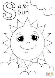 Small Picture Letter S is for Sun coloring page Free Printable Coloring Pages