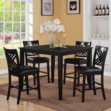 Standard Kitchen Table Sizes Kitchen Black Kitchen Table Set With Square Black Counter Height