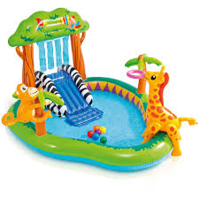 pools for kids. Delighful Kids Intex Inflatable Jungle Play Center With Water Slide And Sprayer   Walmartcom For Pools Kids A