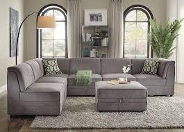 grey velvet sectional. Grey Velvet Sectional E