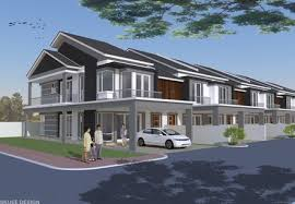 Terrace modern grey design, Ipoh, Malaysia