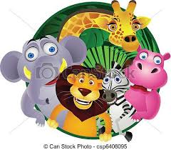 group of zoo animals clipart. Animal Group For Of Zoo Animals Clipart