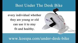 under the desk bike exercise while sitting