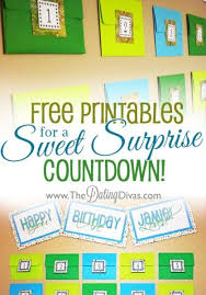 sweet surprise countdown for your or guy activity printables