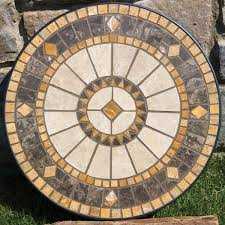mosaic patio compass marble mosaic patio table top small mosaic patio side tables