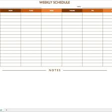 Free Work Schedule Templates For Word And Excel Inside Restaurant