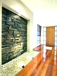 faux stone accent wall interior panels