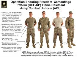 Acu Alternate Size Chart Operational Camouflage Pattern Army Combat Uniforms