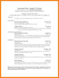 9 Medical Curriculum Vitae Templates Letter Signature